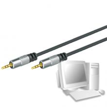 Professional Audiokabel High Quality, 3,5 mm Stereo Klinkenst./St., 5,0 m