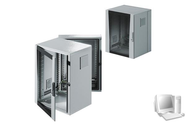 rittal 19 wandgeh use el 3 teilig 21 he 600 x 673 mm hellgrau ral 7035 mit optimaler. Black Bedroom Furniture Sets. Home Design Ideas