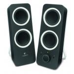 Logitech Lautsprecher-System Z200, schwarz Voller Klang, tiefer Bass, modernes Design
