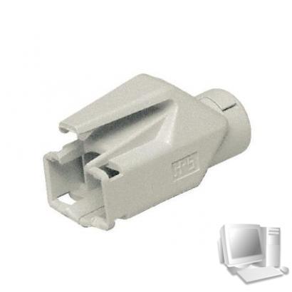 Hirose Knickschutztülle für Modularstecker TM21 und TM31, weiß, VPE 50 Stück Verhindert Beschädigungen am Stecker