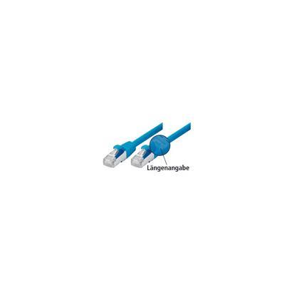 Patchkabel Cat. 5e, SF/UTP, mit Rastnasenschutz, blau, 15,0 m Geschirmtes Patchkabel mit schmalem Knickschutz