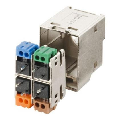 LEONI MegaLine Connect100 Kabelstecker Cat.7A, flex Interface zum modular austauschbaren MegaLine Connect100 Buchsenmodul