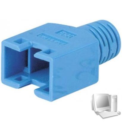 Hirose Knickschutztülle für Modularstecker TM11, blau, VPE: 100 Verhindert Beschädigungen am Stecker