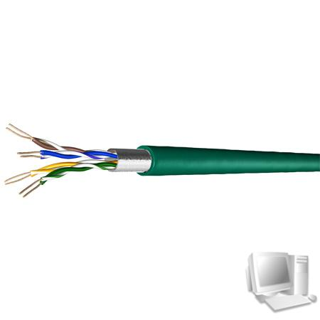Draka Patchkabel UC300 S26, Cat. 5e, F/UTP, halogenfrei, grün, 1000 m Einwegtrommel Einfach geschirmtes Patchkabel