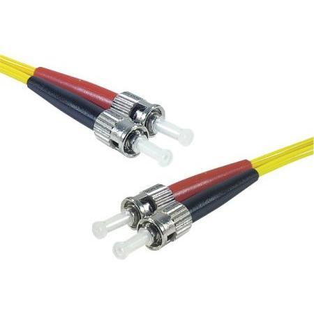 LWL Patchkabel, 9/125 µm, OS2-Faser, 2x ST Stecker/2x ST Stecker, gelb, 7,5 m UPC-Schliff