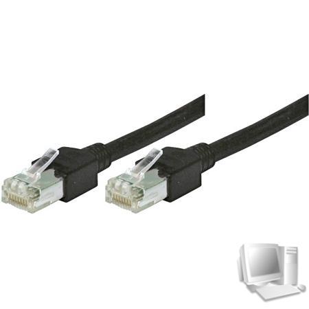 Tecline Patchkabel Cat. 5e, S/UTP, hochflexibel, schwarz, 0,3 m Hochflexibles Premiumpatchkabel mit Dätwyler Rohkabel und Hirose Steckern